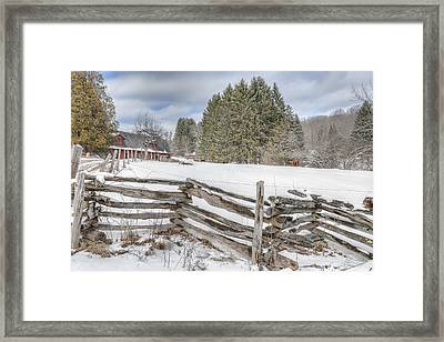 New England Farm Winter 2016 Framed Print