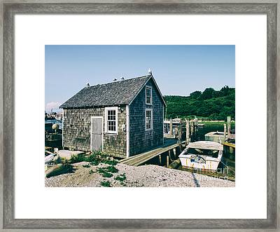 New England Fishing Cabin Framed Print