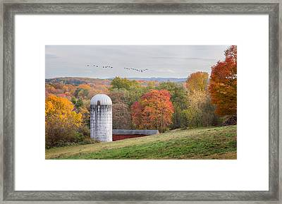 New England Fly Over Framed Print by Bill Wakeley