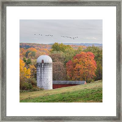 New England Fly Over Square Framed Print