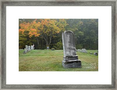 New England Graveyard During The Autumn  Framed Print by Erin Paul Donovan