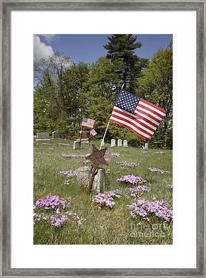 New England Graveyard Framed Print by Erin Paul Donovan