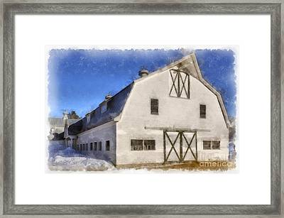 New England Horse Barn South Woodstock Vermont Framed Print by Edward Fielding