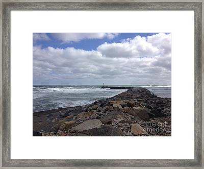 New England Jetty Framed Print