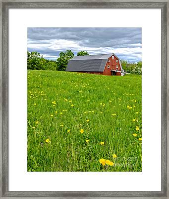 New England Landscape Framed Print by Edward Fielding