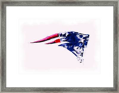 New England Patriots 04c Framed Print by Brian Reaves