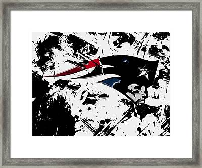 New England Patriots 1d Framed Print by Brian Reaves
