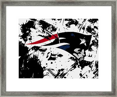 New England Patriots 1e Framed Print by Brian Reaves