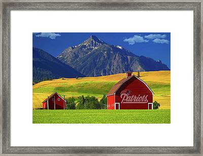 Framed Print featuring the photograph New England Patriots Barn by Movie Poster Prints