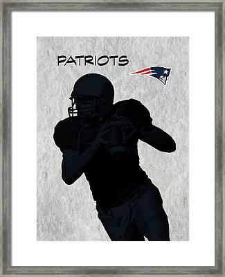 New England Patriots Football Framed Print by David Dehner