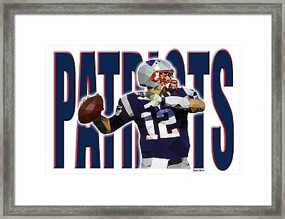 Framed Print featuring the digital art New England Patriots by Stephen Younts