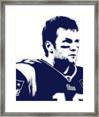 New England Patriots Tom Brady 5 Framed Print
