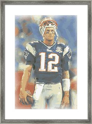 New England Patriots Tom Brady Framed Print by Joe Hamilton