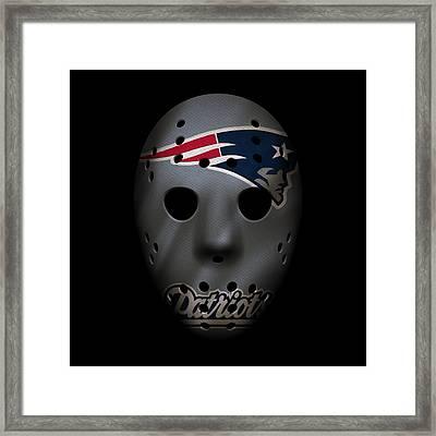New England Patriots War Mask 3 Framed Print