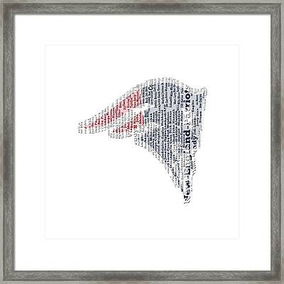 New England Patriots Word Cloud 3c Framed Print