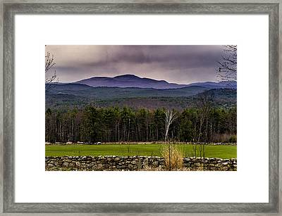 Framed Print featuring the photograph New England Spring In Oil by Mark Myhaver