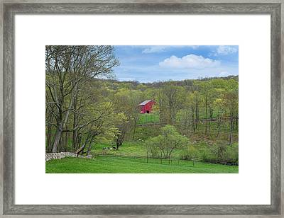 Framed Print featuring the photograph New England Spring Pasture by Bill Wakeley