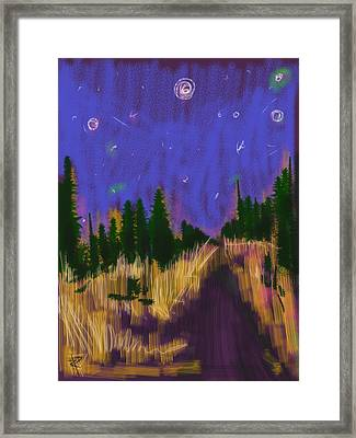 New England Starry Night Framed Print by Russell Pierce