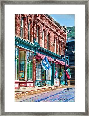New England Storefronts Framed Print