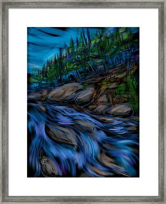 New England Stream Framed Print by Russell Pierce