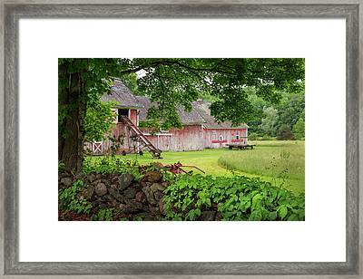 New England Summer Barn Framed Print by Bill Wakeley