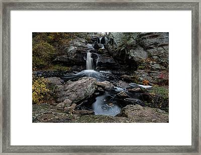 New England Waterfall In Autumn Framed Print