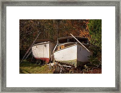 Framed Print featuring the photograph New England Yard Art by Kirkodd Photography Of New England