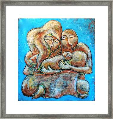 New Family Framed Print by Sara Zimmerman