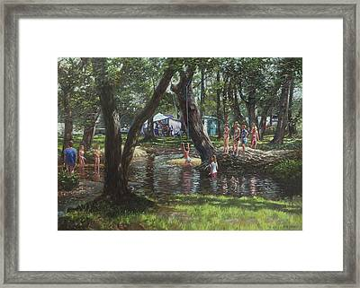 New Forest Camping Fun Framed Print