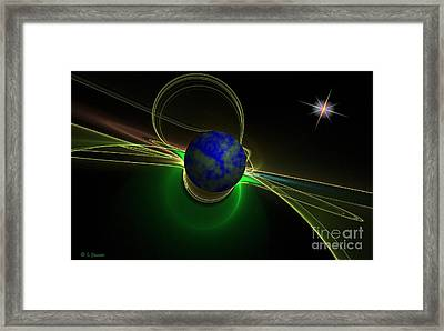 New Frontier Framed Print by Sandra Bauser Digital Art