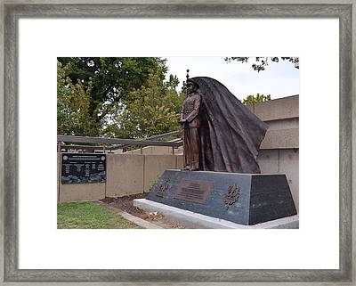 New General Vang Monument In Autumn 2015 Framed Print by James Warren
