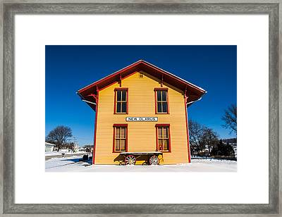 New Glarus Depot Framed Print by Todd Klassy