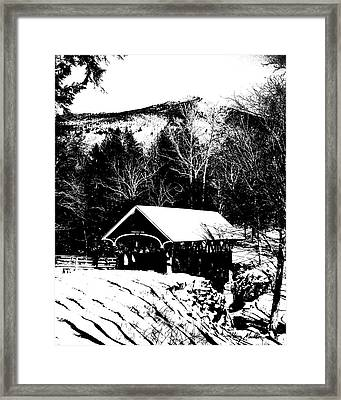 New Hampshire Covered Bridge Framed Print