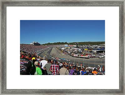 New Hampshire Motor Speedway Safety Car Framed Print by Juergen Roth