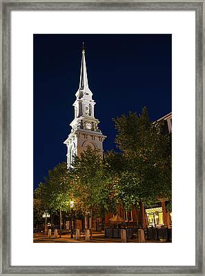 Framed Print featuring the photograph New Hampshire Portsmouth North Church by Juergen Roth