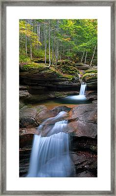 New Hampshire Sabbaday Falls Panorama Framed Print