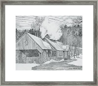 New Hampshire Sugarhouse Framed Print