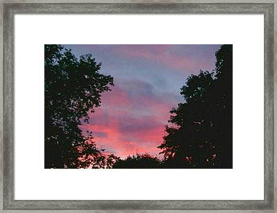 Framed Print featuring the digital art New Hampshire Sunset by Barbara S Nickerson