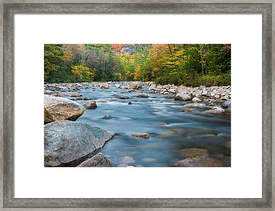 New Hampshire Swift River And Fall Foliage In Autumn Framed Print