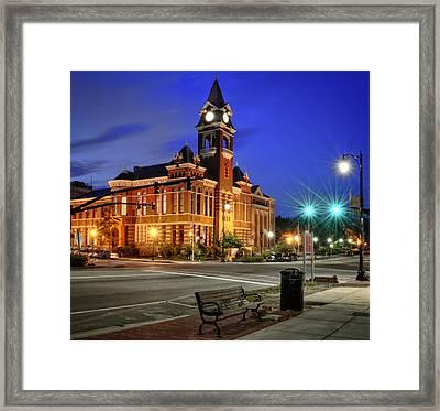 New Hanover County At Night Framed Print