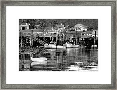 New Harbor Docks Framed Print by Olivier Le Queinec