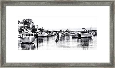 New Harbor Impression Framed Print