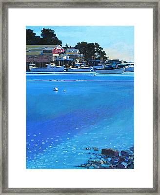 New Harbor Framed Print by Robert Bissett
