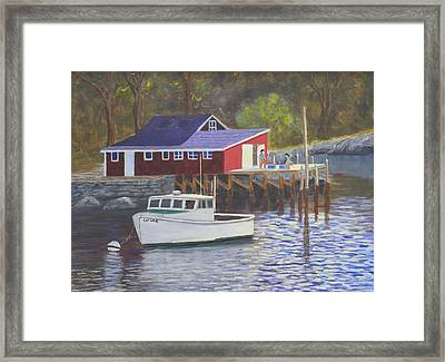 New Harbor Sunrise Framed Print