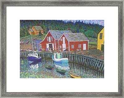 New Harbour  N.s. Framed Print