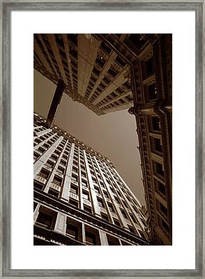 New Heights - Wrigley Building - Chicago Framed Print by Dmitriy Margolin