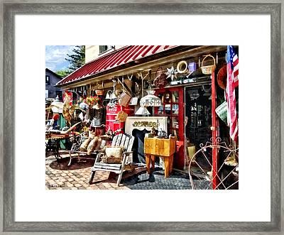 New Hope Pa Antique Shop Framed Print by Susan Savad