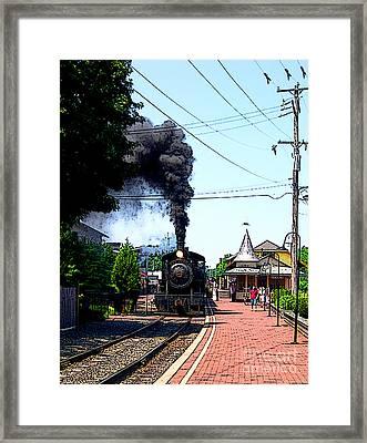 New Hope Train Station II Framed Print