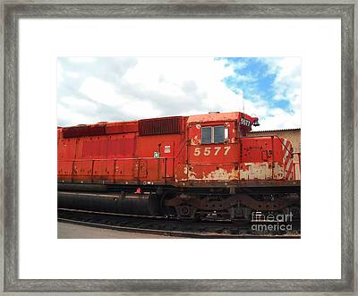 Framed Print featuring the photograph New Hope Train by Susan Carella
