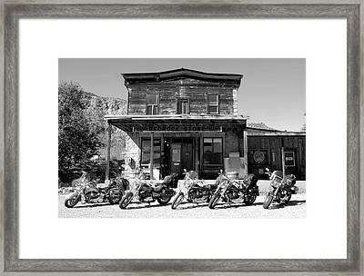 New Horses At Bedrock Framed Print by David Lee Thompson